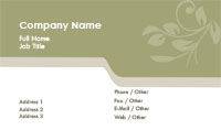 Green and Tan Feminine Business Card Template